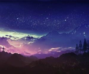night, stars, and art image