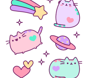 cat, kawaii, and overlay image
