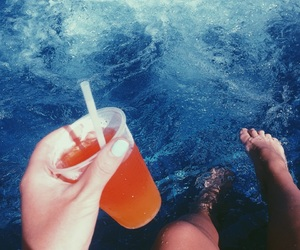 aesthetic, beach, and cocktail image