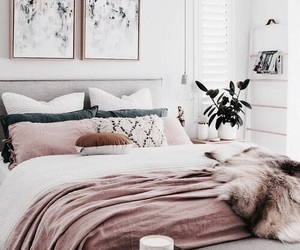 bed, vogue, and bedroom image