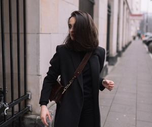 coat, fashion, and hair image
