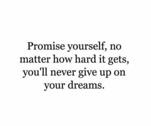 quotes, Dream, and promise image