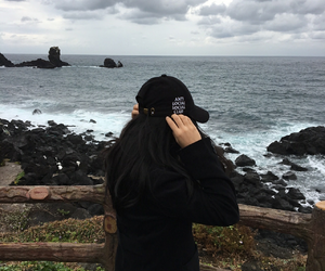 black, coast, and jeju image