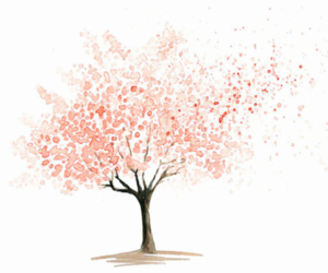tree, pink, and art image