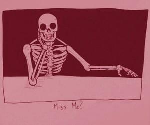 skeleton, art, and dark image
