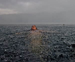 dark, lost, and rain image