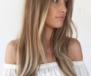 blonde, hair, and woman image