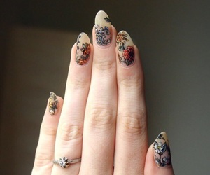 nails, flowers, and ring image