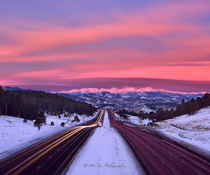 purple, snow, and sunset image