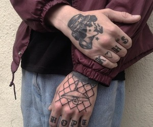tattoo, grunge, and hands image