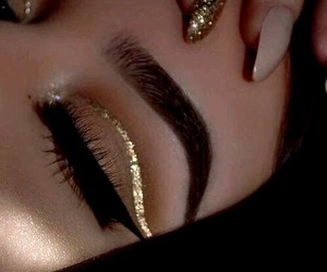 glam, makeup, and new years eve image