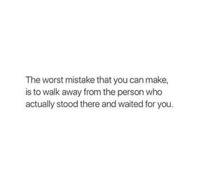 quotes, mistakes, and sad image