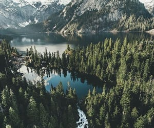 lake, mountains, and nature image