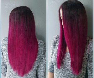 hair, awesome hair, and fuchsia image