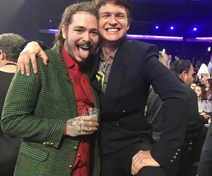 post malone and ansel elgort image