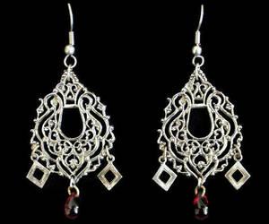 boho, etsy, and chandelier earrings image