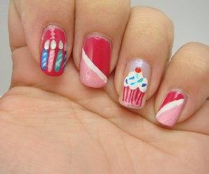 nails, cupcake, and nail art image