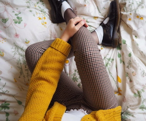 fashion, yellow, and grunge image