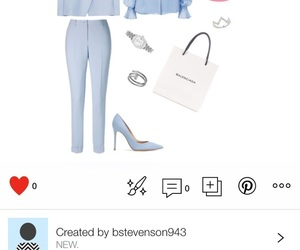 baby blue, heels, and jacket image