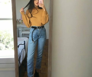 90s, fashion, and mom jeans image