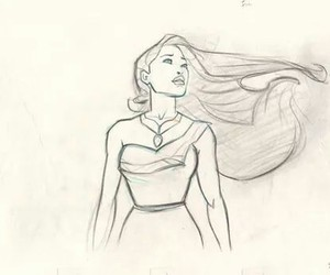 pocahontas, disney, and drawing image