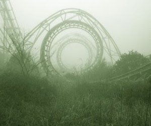 abandoned, Roller Coaster, and rollercoaster image