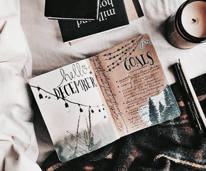 december, book, and notebook image