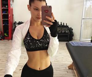 bella hadid, model, and fitness image