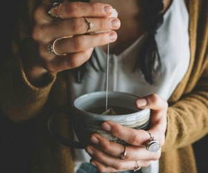 tea, girl, and drink image