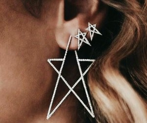 accessories, earrings, and stars image