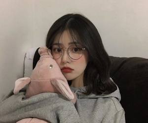 glasses, kfashion, and korean image