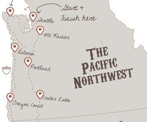 map, seattle, and washington image