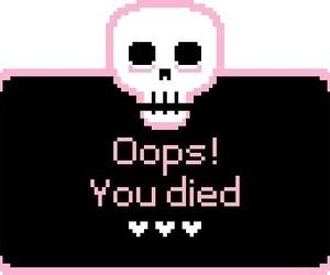 skull, pink, and kawaii image
