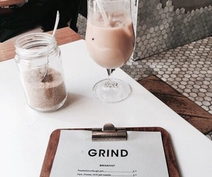 coffee, iced coffee, and drinks image