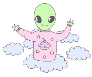 alien, png, and sticker image