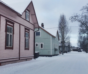 Houses, snow, and town image