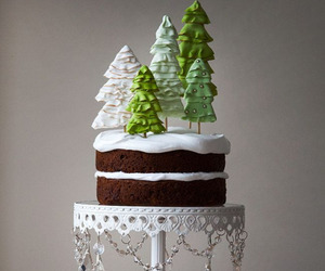 cake, christmas, and dessert image