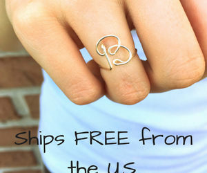 etsy, gold jewelry, and silver ring image