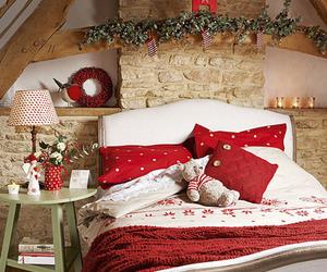 christmas, christmas tree, and house decorating image