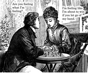 black and white, funny, and victorian image