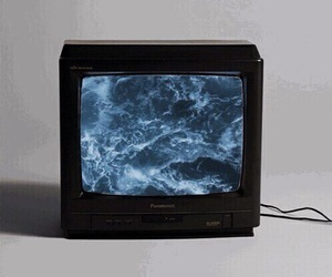 tv, grunge, and ocean image