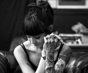 tattoo, black and white, and hannah snowdon image