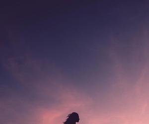 art, purple, and sky image