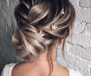 accessories, blonde, and hairstyle image