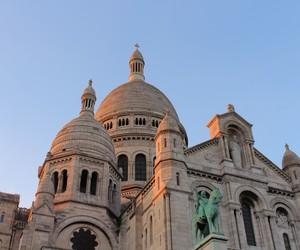 church, france, and paris image