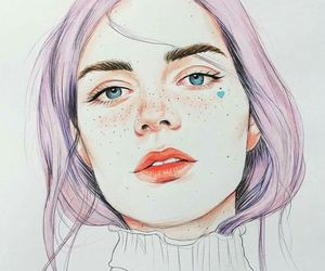 illustration, art, and beauty image