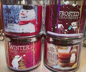 candles, winter, and bath and body works image