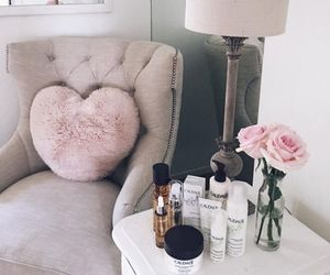 home, decor, and pink image