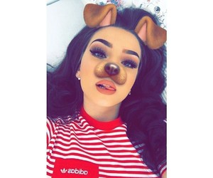 girl, tumblr, and snapchat image