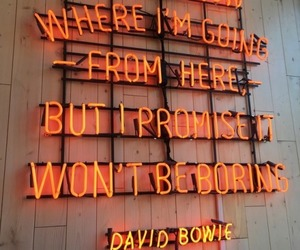 quotes, neon, and david bowie image